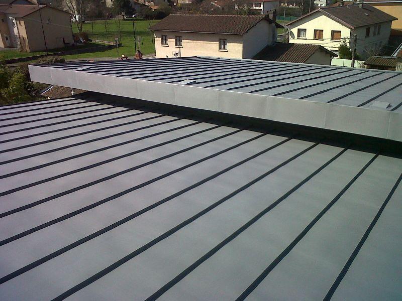 Toiture en joint debout couverture ventil e chassieu for Toiture zinc joint debout